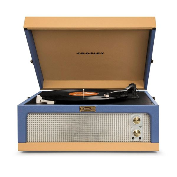 Picture of Dansette Junior Portable Record Player, Blue/Tan *