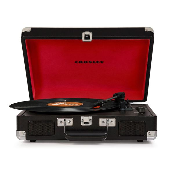 Picture of Cruiser Deluxe Portable 3-Speed Turntable, Black *