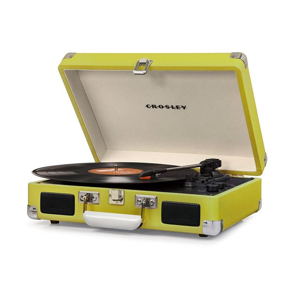 Picture of Cruiser Deluxe Portable 3-Speed Turntable, Green *