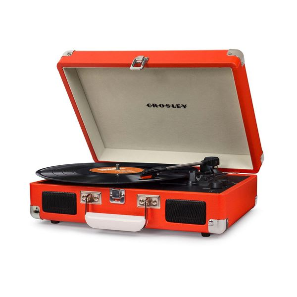 Picture of Cruiser Deluxe Portable 3-Speed Turntable, Orange