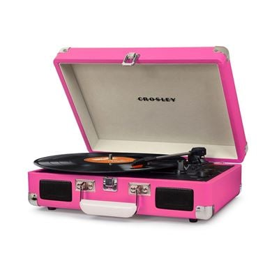 Picture of Cruiser Deluxe Portable 3-Speed Turntable, Pink *D