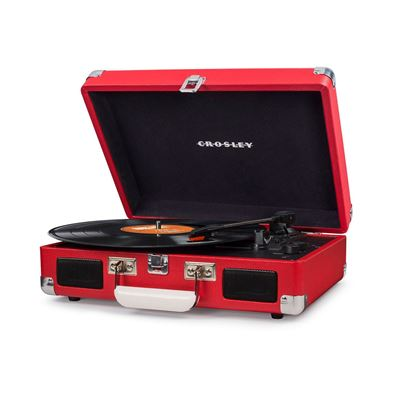 Picture of Cruiser Deluxe Portable 3-Speed Turntable, Red *D