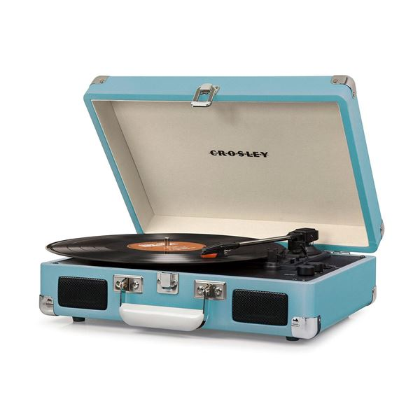 Picture of Cruiser Deluxe Portable 3-Speed Turntable, Teal *D