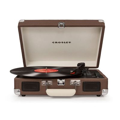 Picture of Cruiser Deluxe Portable 3-Speed Turntable, Tan *D