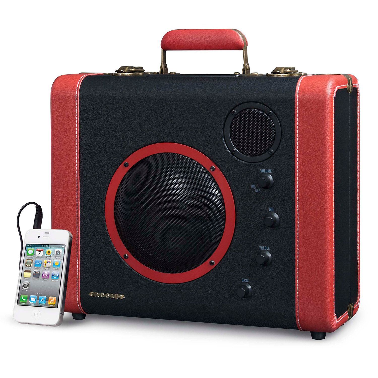 Picture of Soundbomb Portable Bluetooth Speaker, Black/Red *D