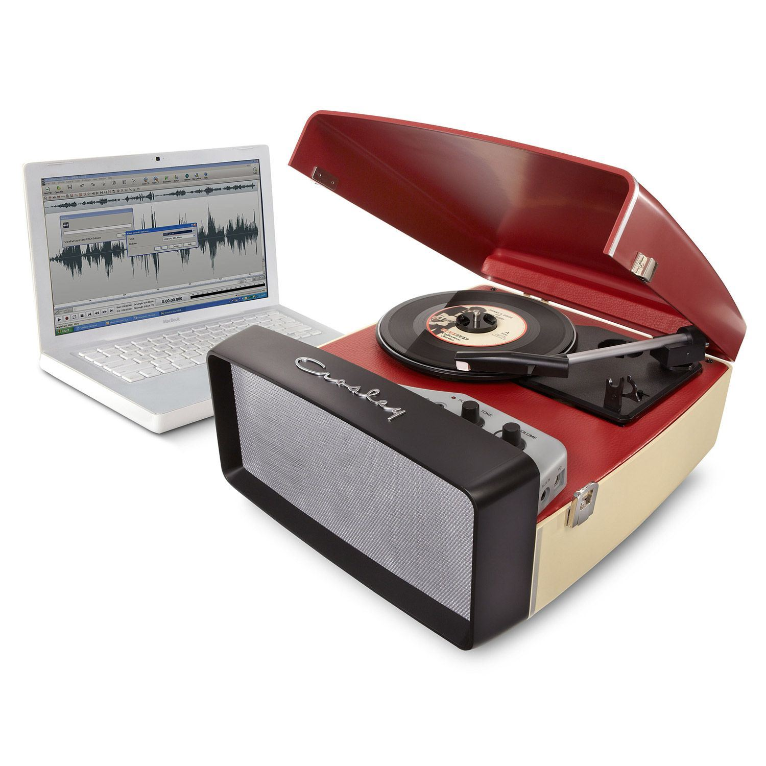 Picture of Collegiate Portable USB Turntable, Red *D