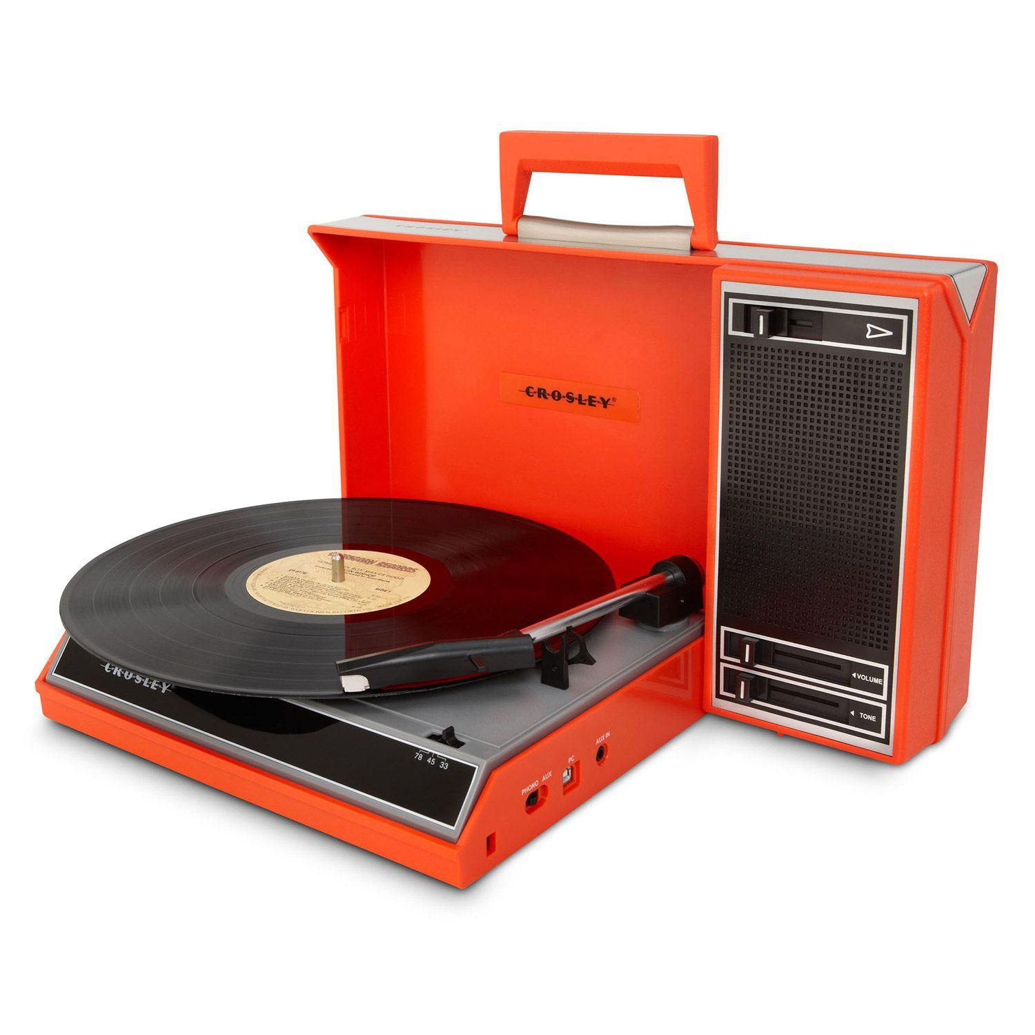 Picture of Spinnerette Portable USB Turntable, Red *D