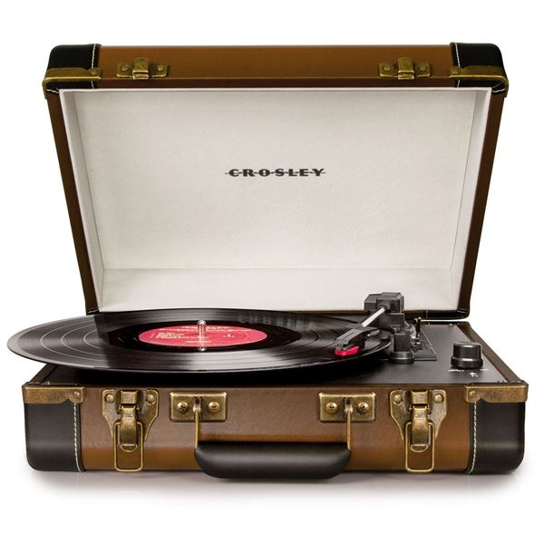 Picture of Executive Portable USB Turntable, Brown *D