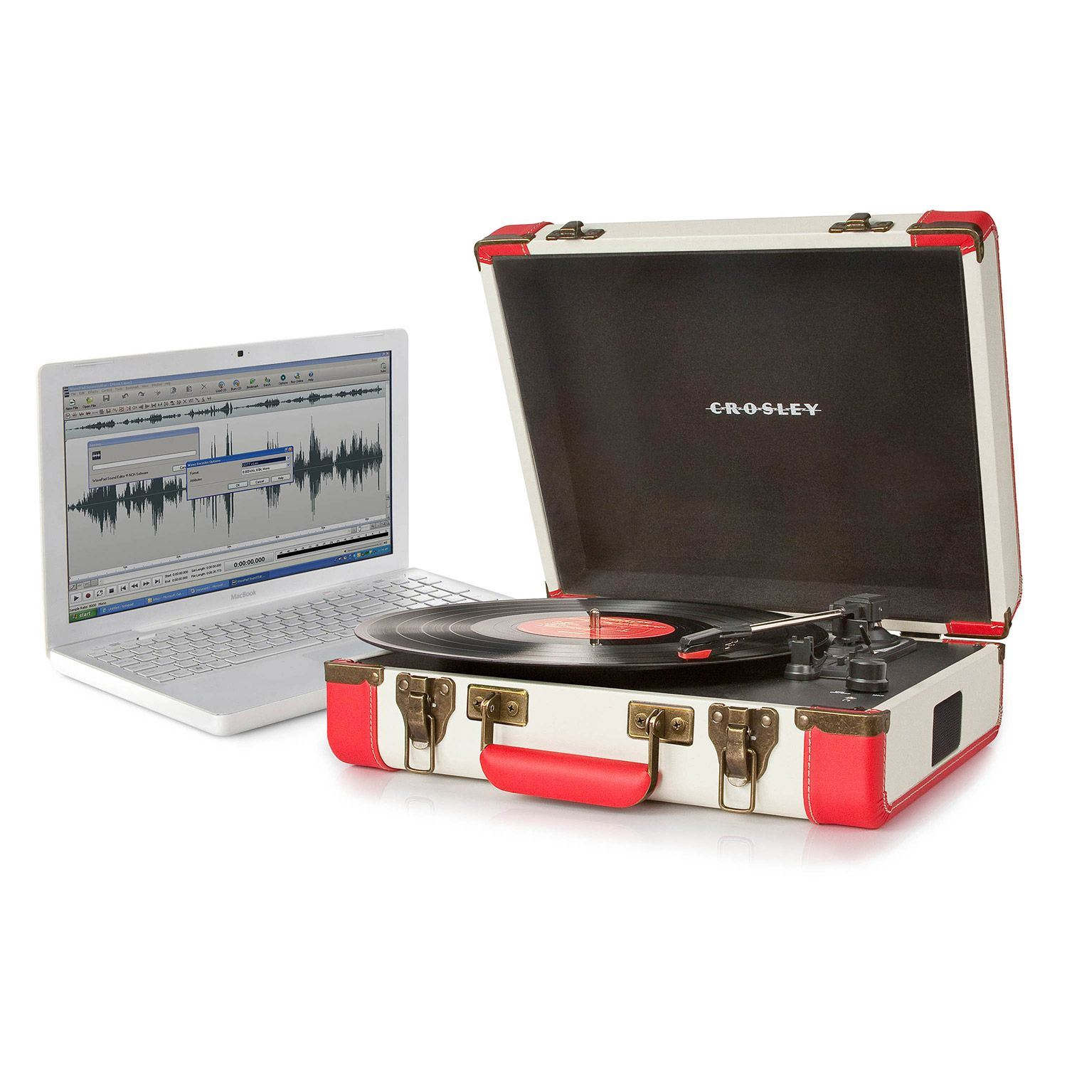 Picture of Executive Portable USB Turntable, Red *D