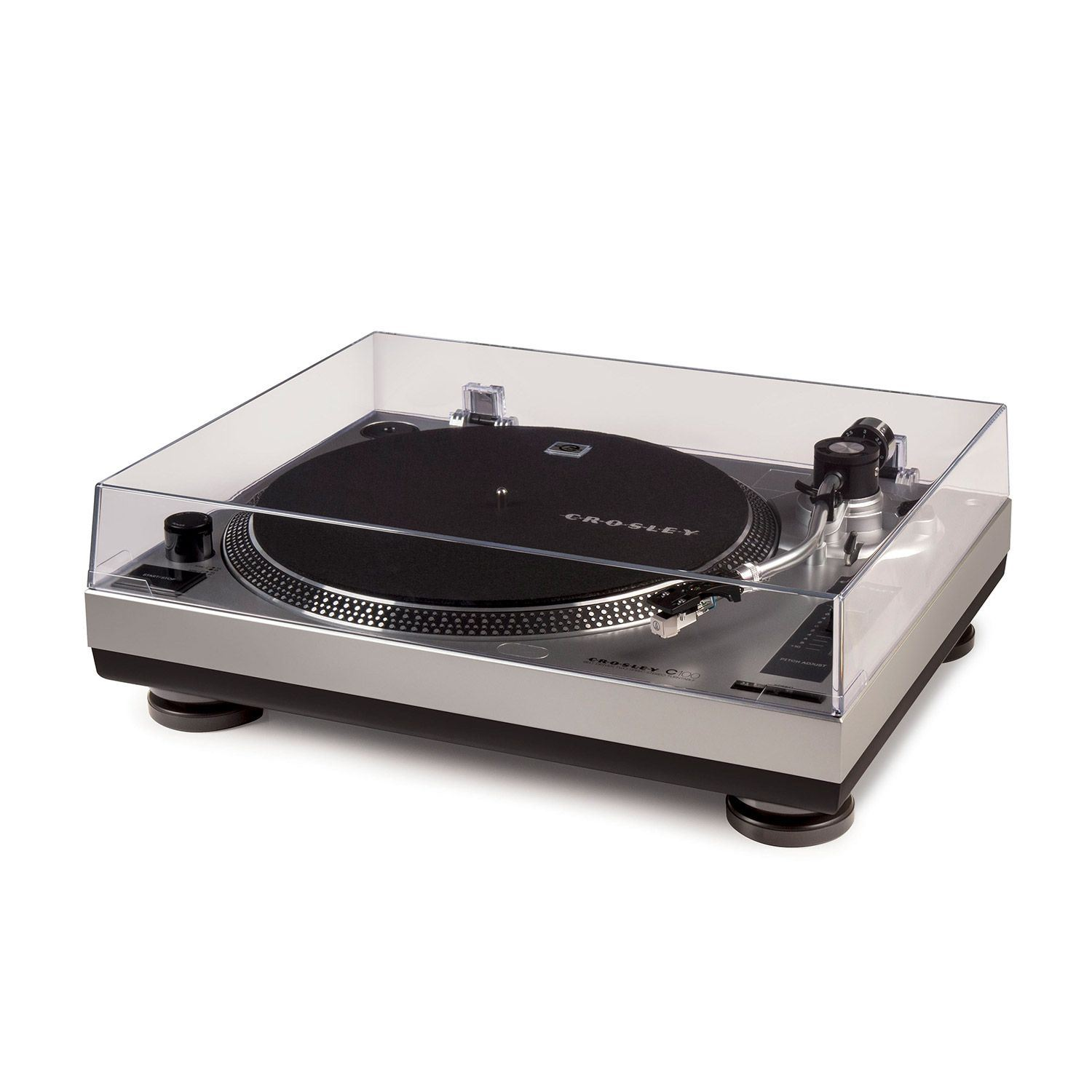 Picture of C100 Turntable with S-Shape Tone Arm, Silver *D