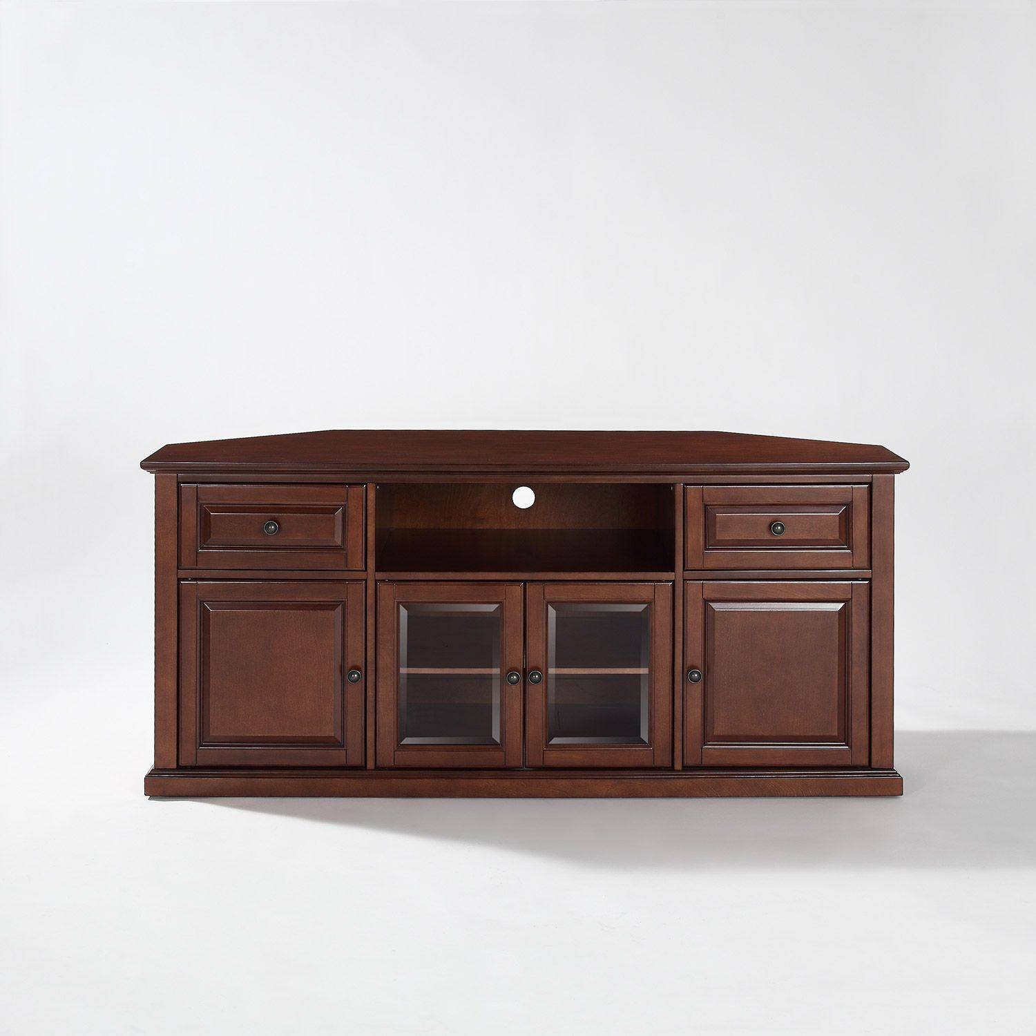 Picture of 60in Corner TV Stand, Mahogany*D
