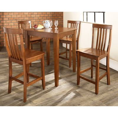 Picture of 5-Piece Pub Dining Set, Cherry *D