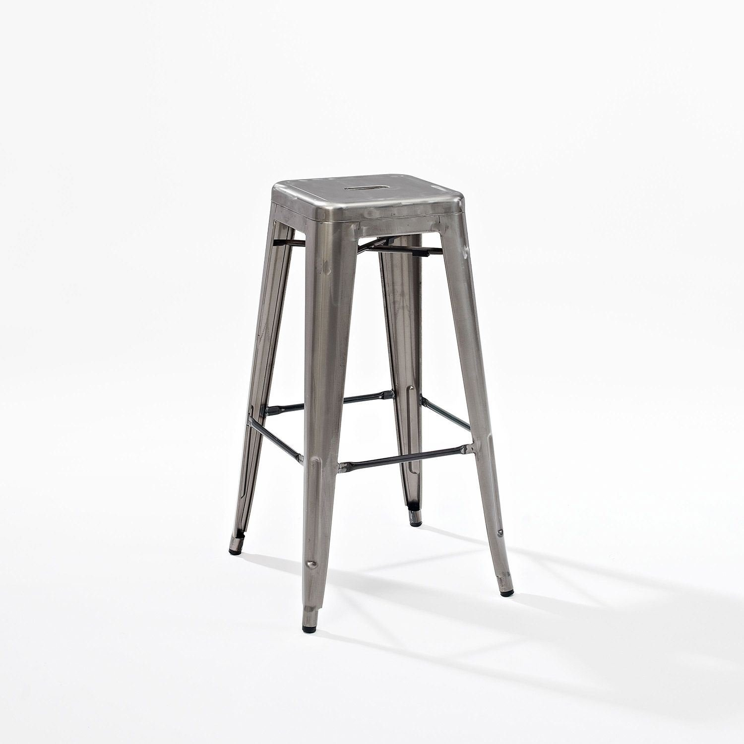 Picture of Amelia Metal Cafe Barstool, Galvanized *D