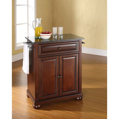 Picture of Alexandria Black Granite Top Kitchen Cart, Mhgny *