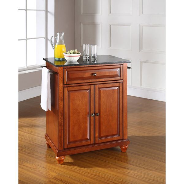 Picture of Cambridge Black Top Kitchen Cart, Cherry *D