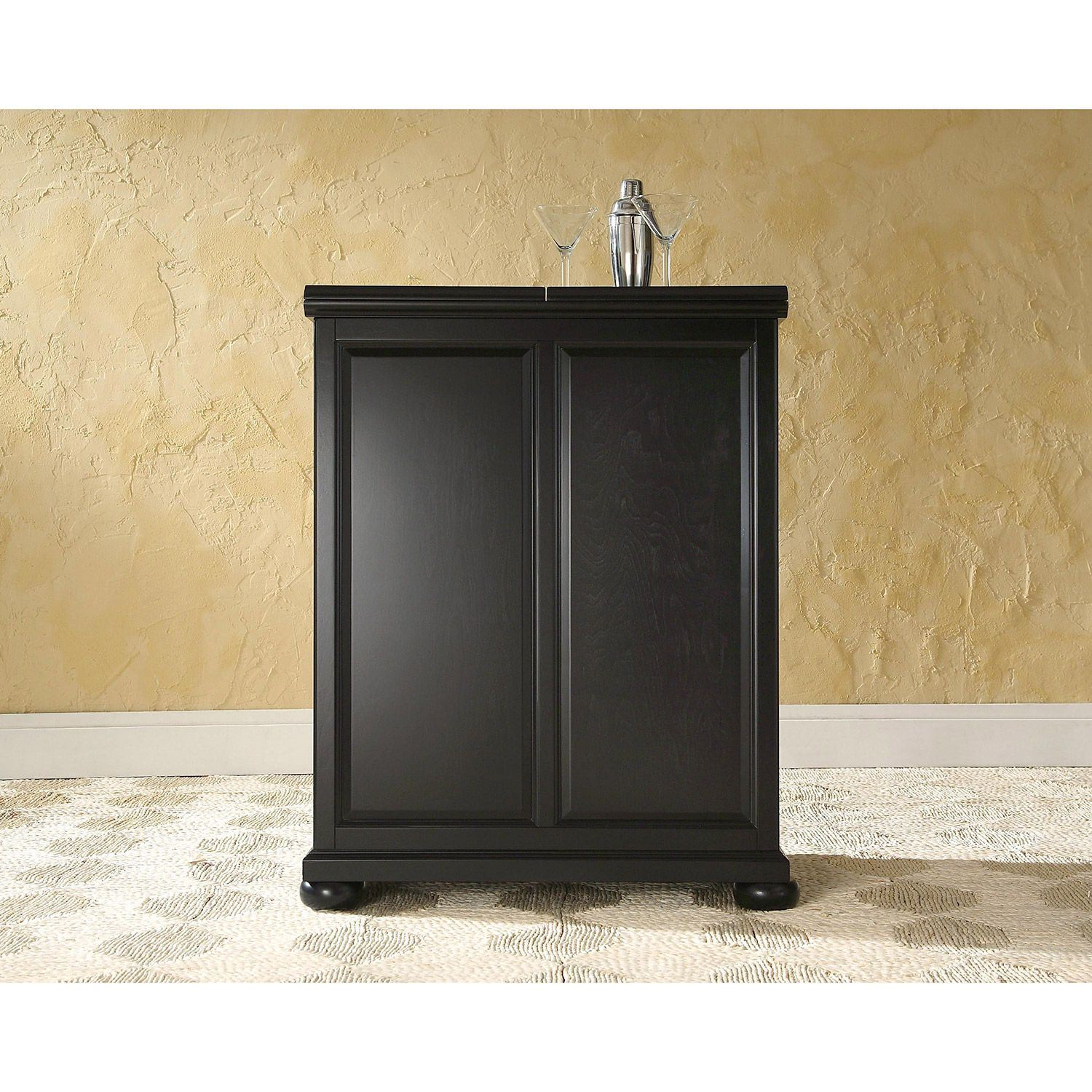Picture of Alexandria Expandable Bar Cabinet, Black *D