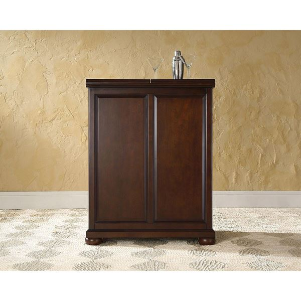 Picture of Alexandria Expandable Bar Cabinet, Mahogany *D
