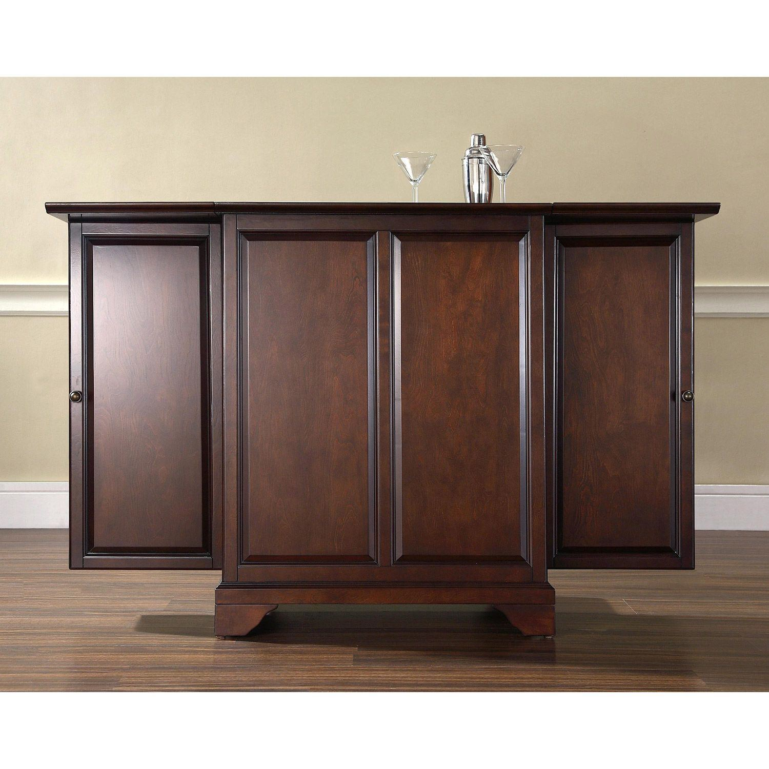 Picture of Lafayette Expandable Bar Cabinet, White *D