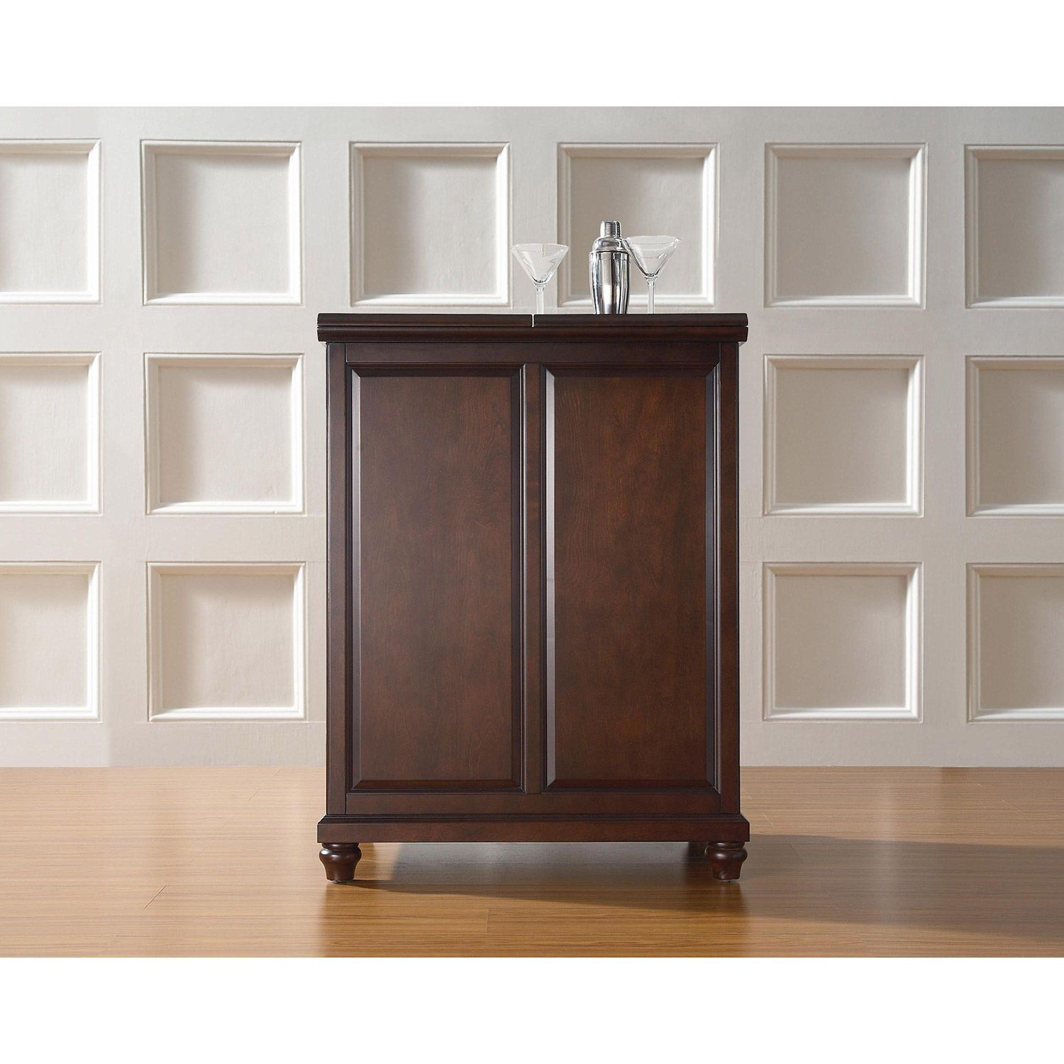 Picture of Cambridge Expandable Bar Cabinet, Mahogany *D