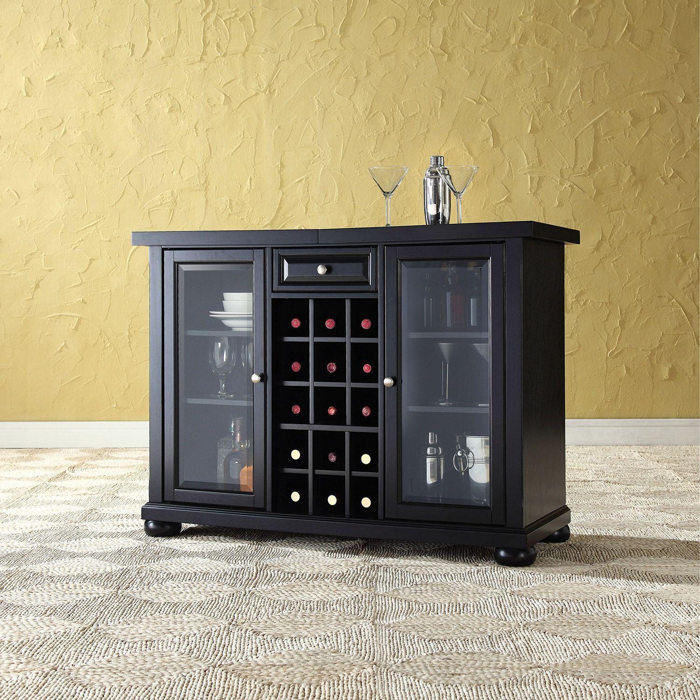 Picture of Alexandria Sliding Bar Cabinet, Black *D