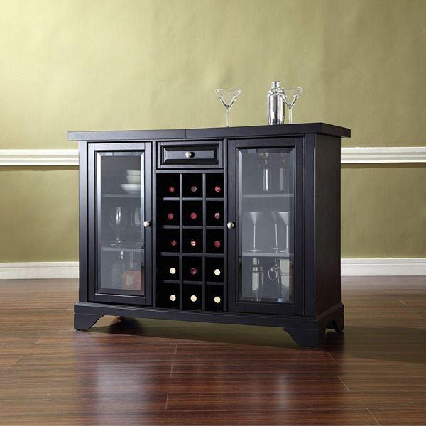 Picture of Lafayette Sliding Top Bar Cabinet, Black *D