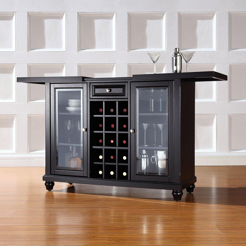Picture of Cambridge Sliding Top Bar Cabinet, Black *D