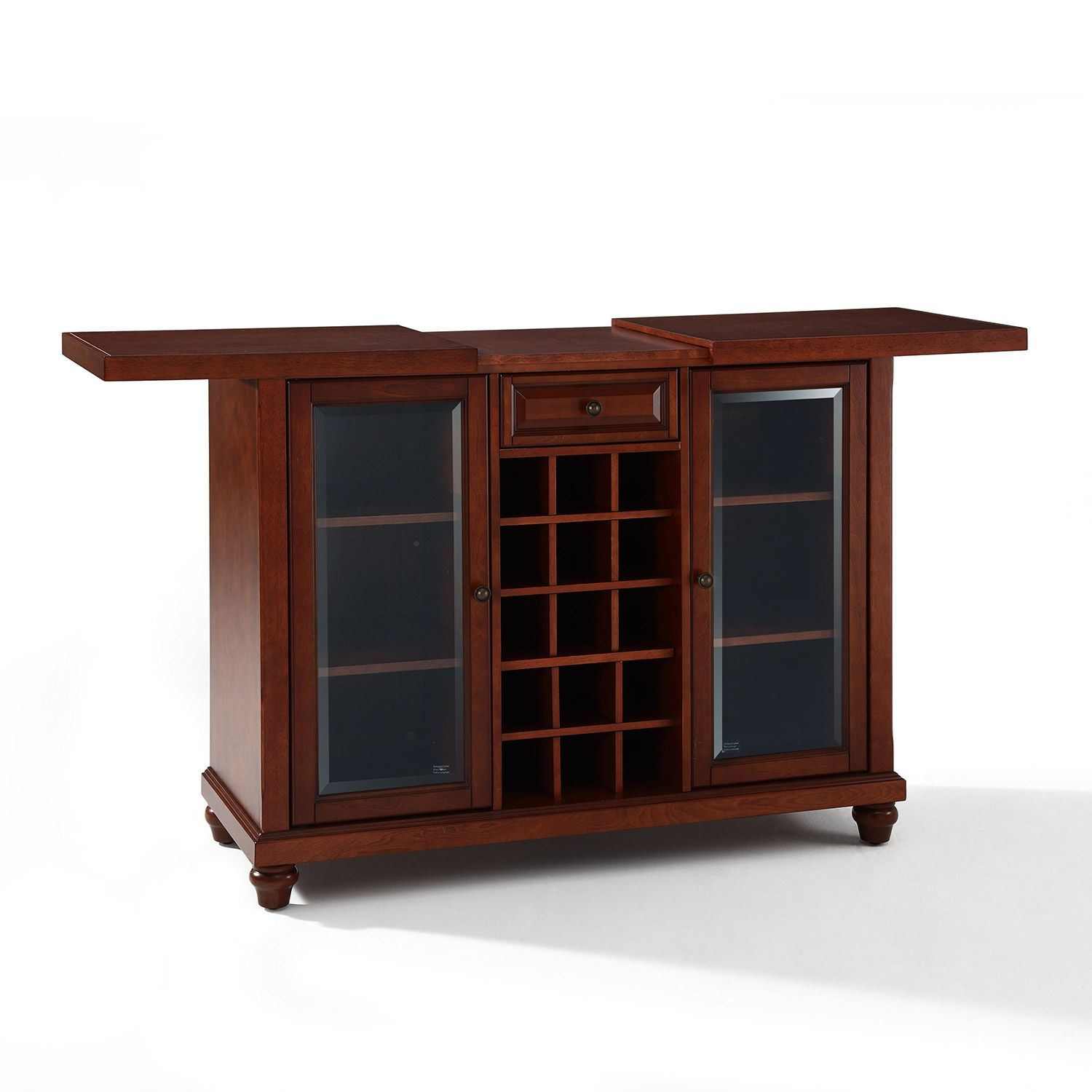 Picture of Cambridge Sliding Top Bar Cabinet, Mahogany *D
