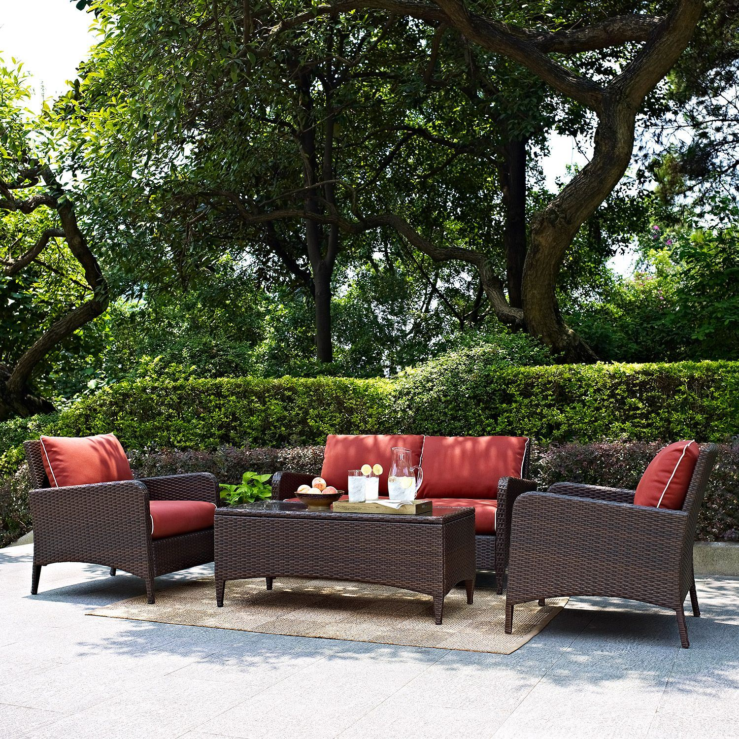 Picture of Kiawah 4-Piece Outdoor Seating Set, Brown *D