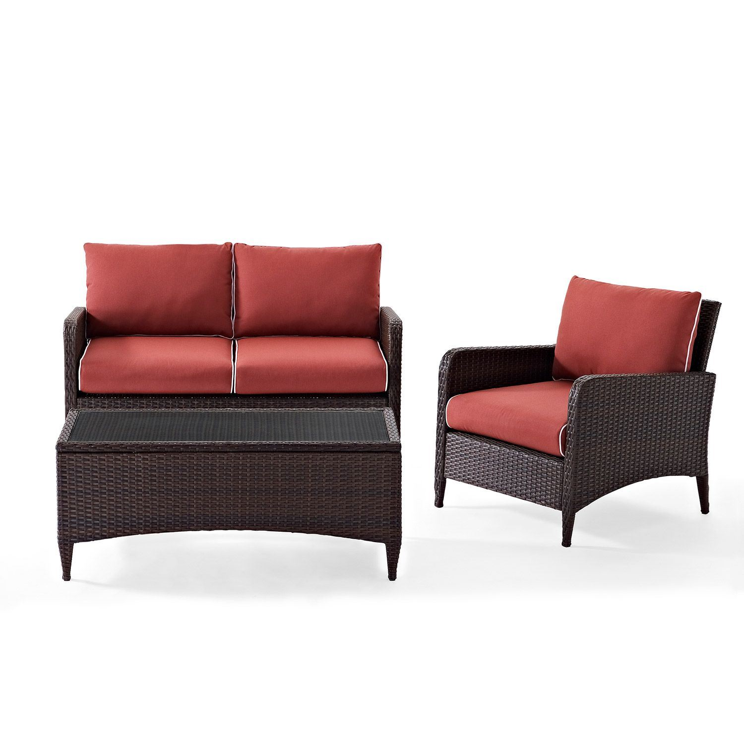 Picture of Kiawah 3-Piece Outdoor Seating Set, Brown *D