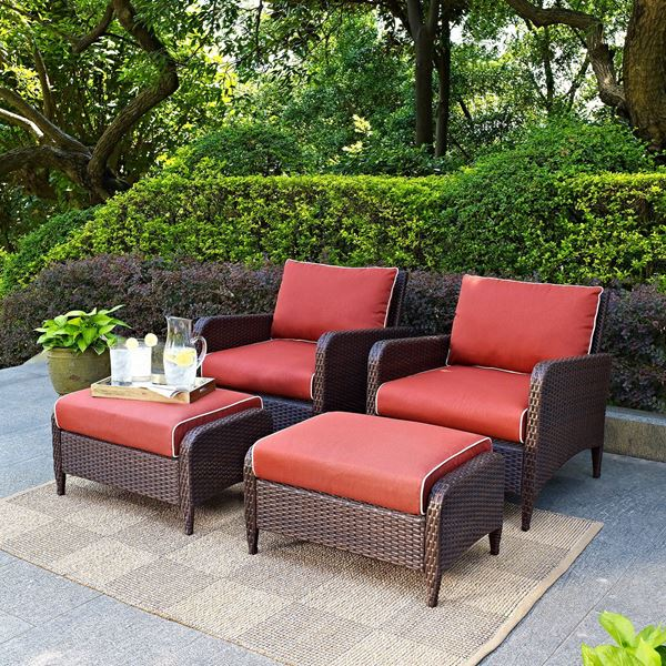 Picture of Kiawah 4-Piece Outdoor Seating Set , Brown*D