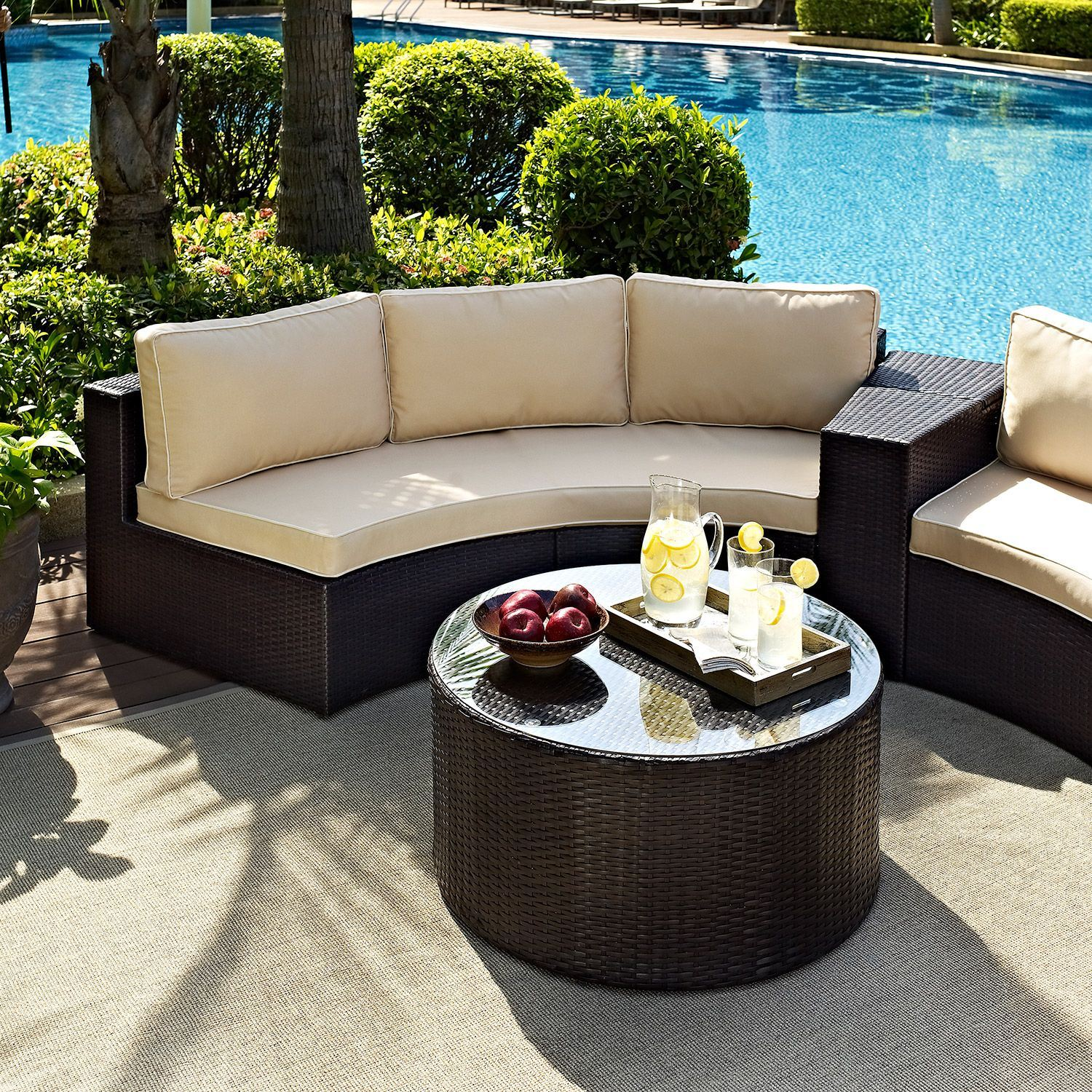 Picture of Catalina 2 Piece Outdoor Set, Brown *D
