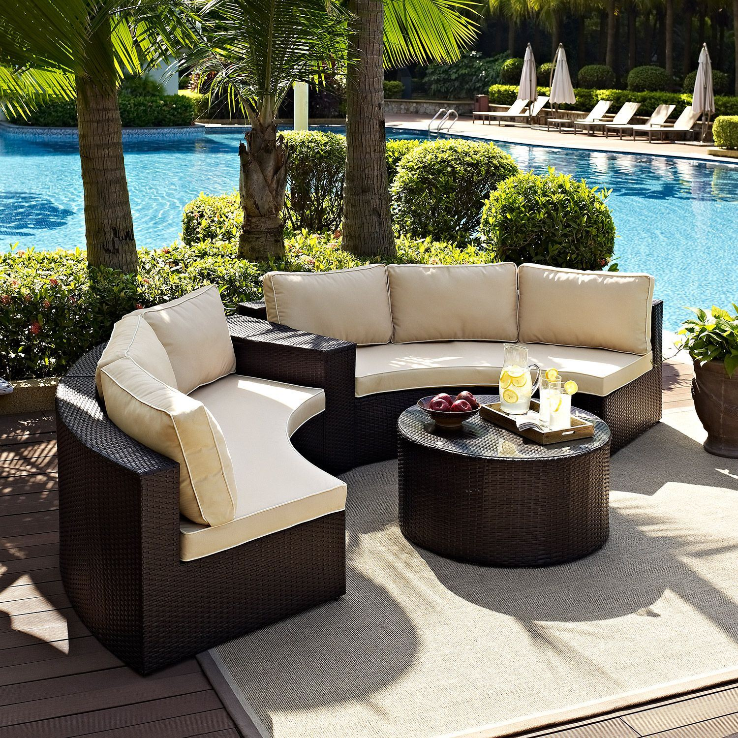 Picture of Catalina 4 Piece Outdoor Set, Brown *D