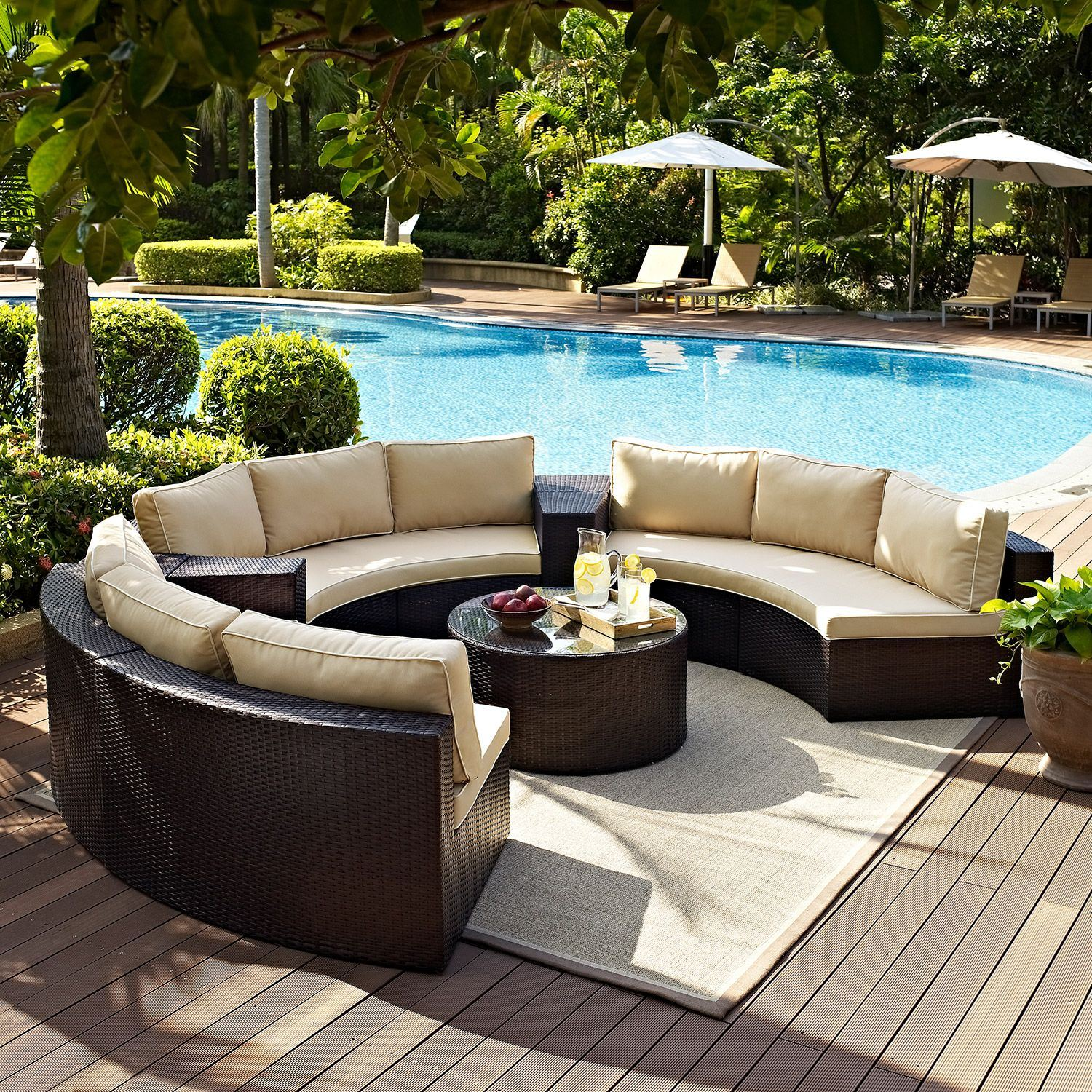 Picture of Catalina 6 Piece Outdoor Set, Brown *D