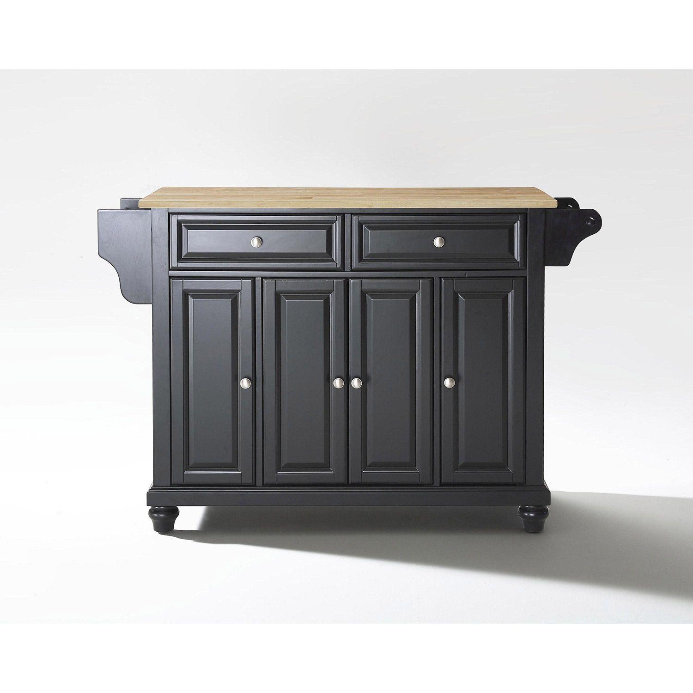 Picture of Cambridge Wood Top Kitchen Cart, Black *D