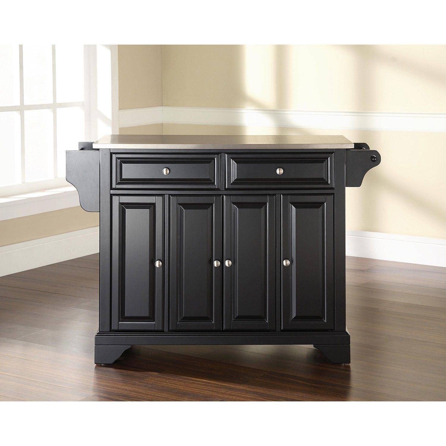 Picture of Lafayette Steel Top Kitchen Cart, Black *D