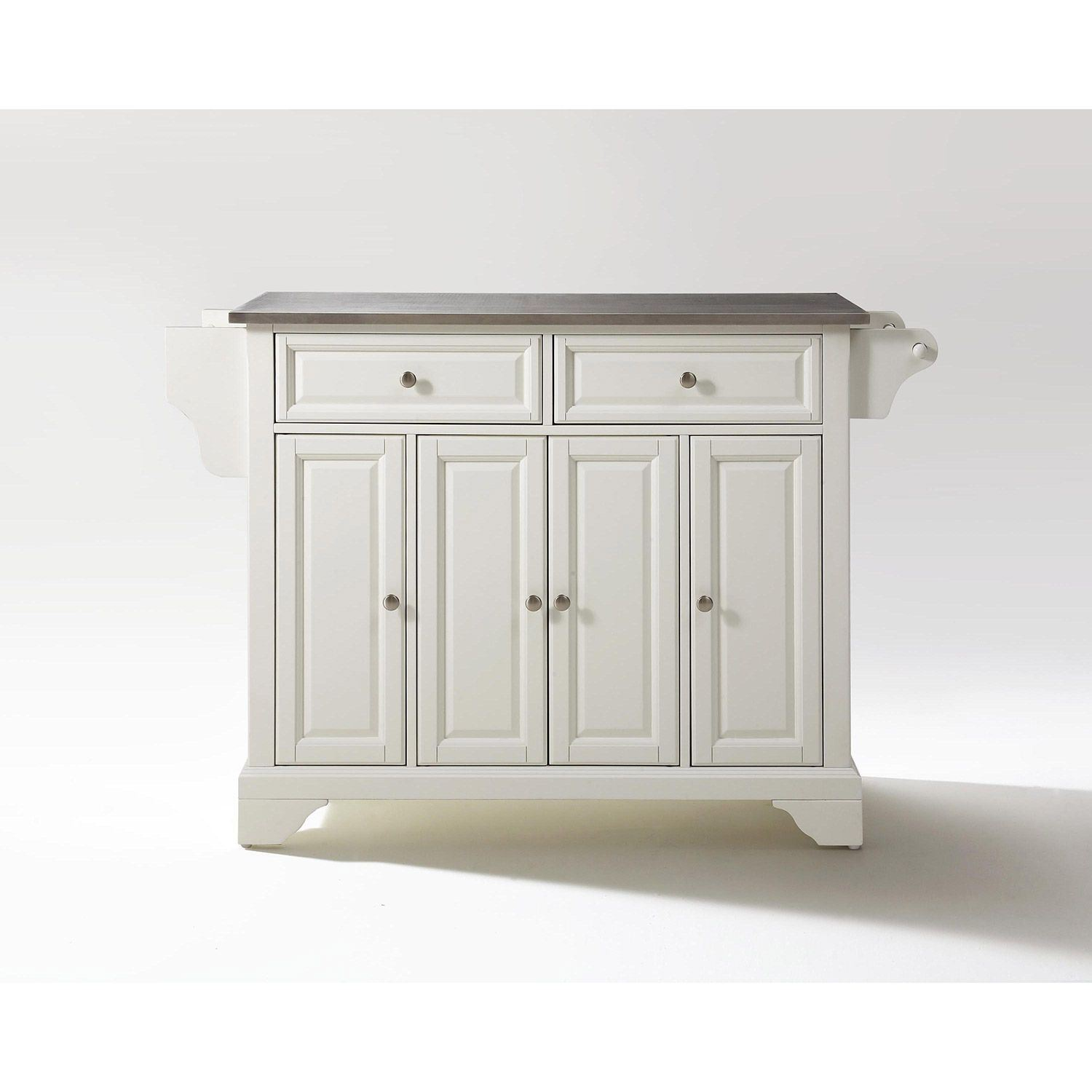 Picture of Lafayette Steel Top Kitchen Cart, White *D