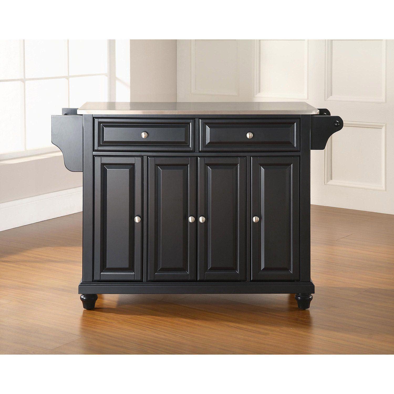 Picture of Cambridge Steel Top Kitchen Cart, Black *D