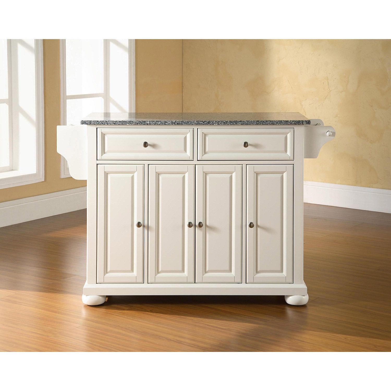 Picture of Alexandria Granite Top Kitchen Cart, White *D