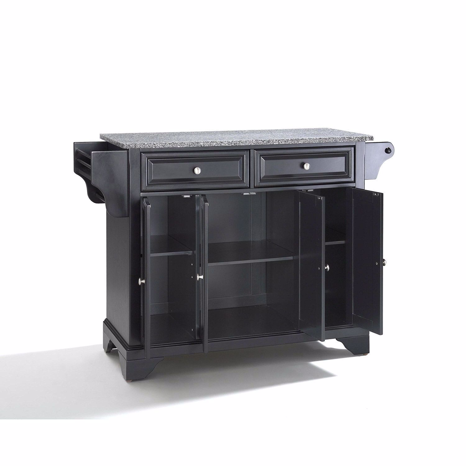 Picture of Lafayette Granite Top Kitchen Cart, Black *D