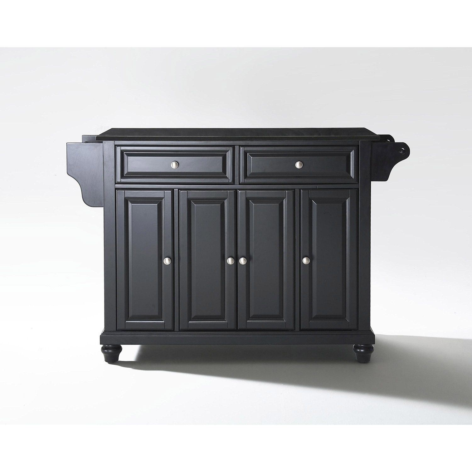 Picture of Cambridge Black Top Kitchen Cart, Black *D