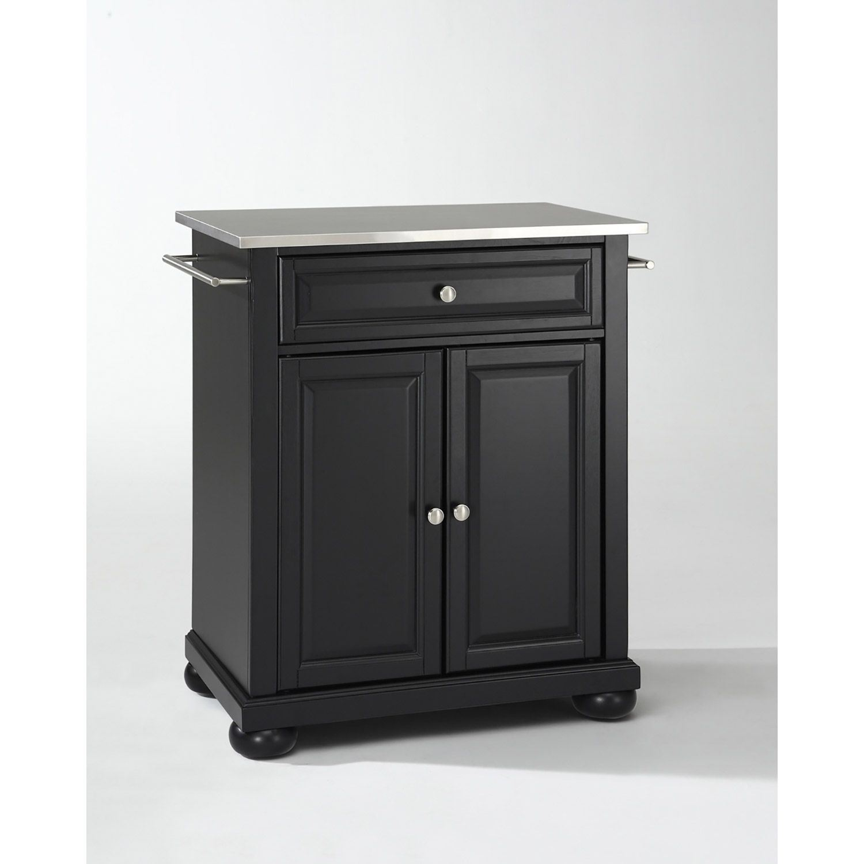 Picture of Alexandria Steel Top Kitchen Cart, Black *D