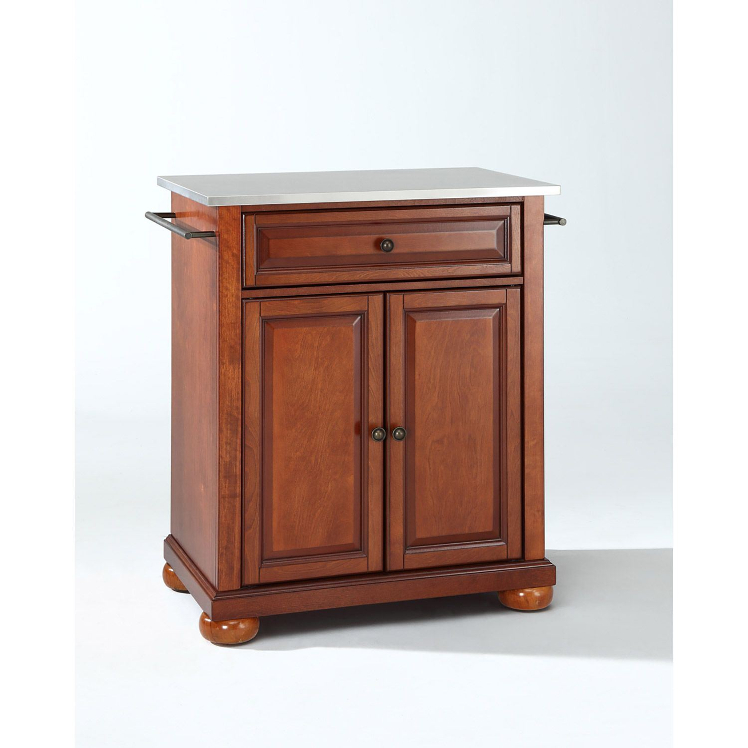Picture of Alexandria Steel Top Kitchen Cart, Cherry *D