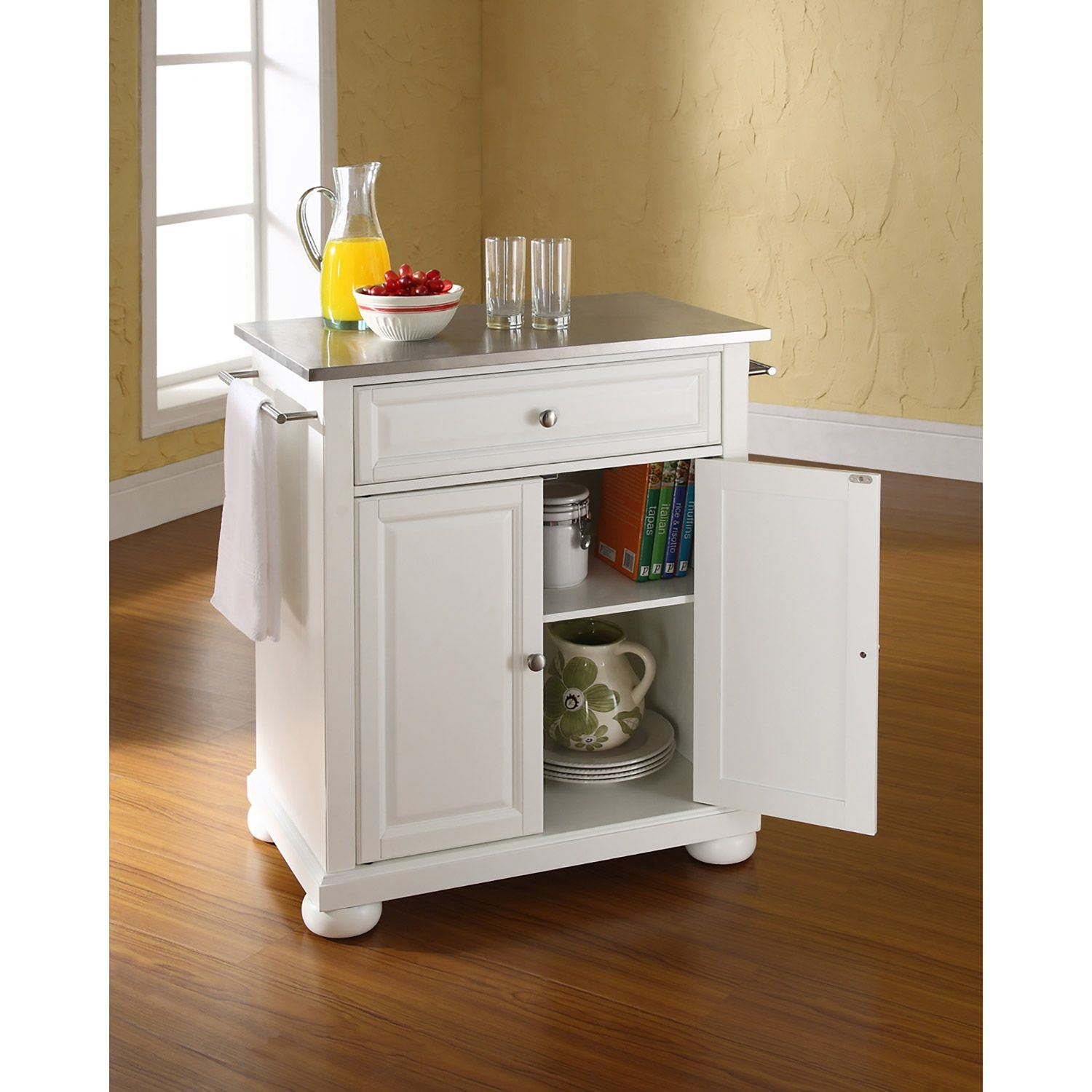 Picture of Alexandria Steel Top Kitchen Cart, White *D