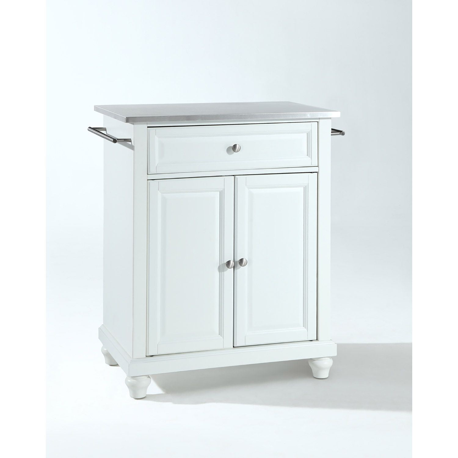 Picture of Cambridge Steel Top Kitchen Cart, White *D