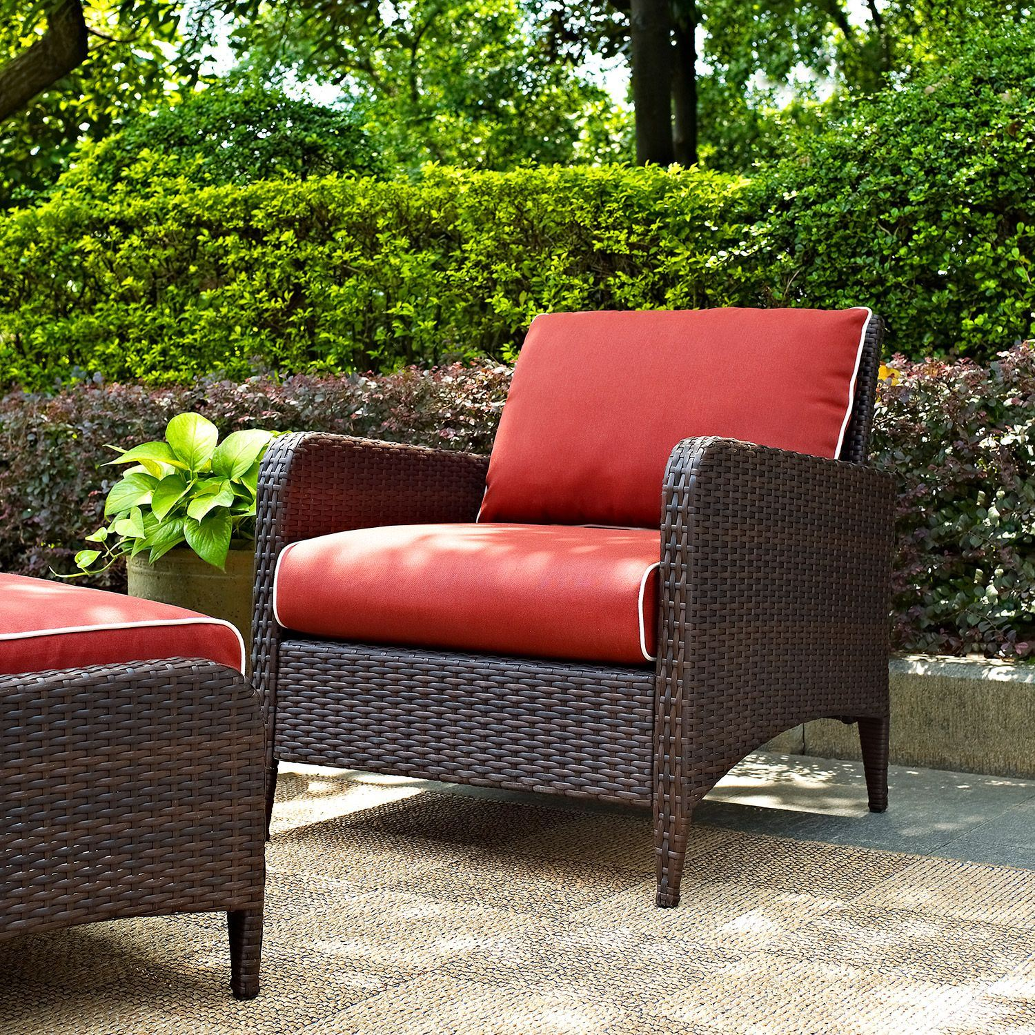 Picture of Kiawah Outdoor Arm Chair, Brown *D