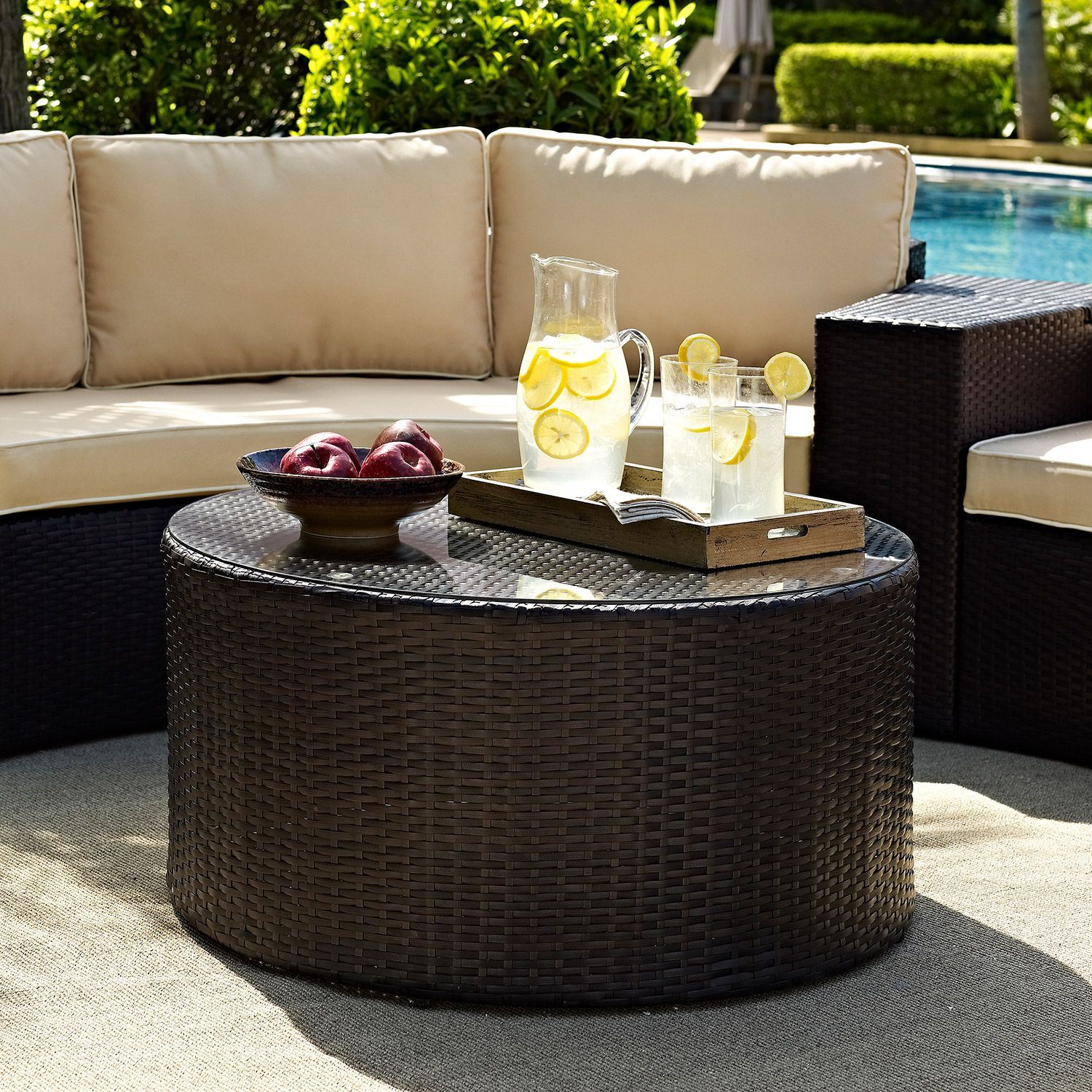 Picture of Catalina Outdoor Coffee Table, Brown *D