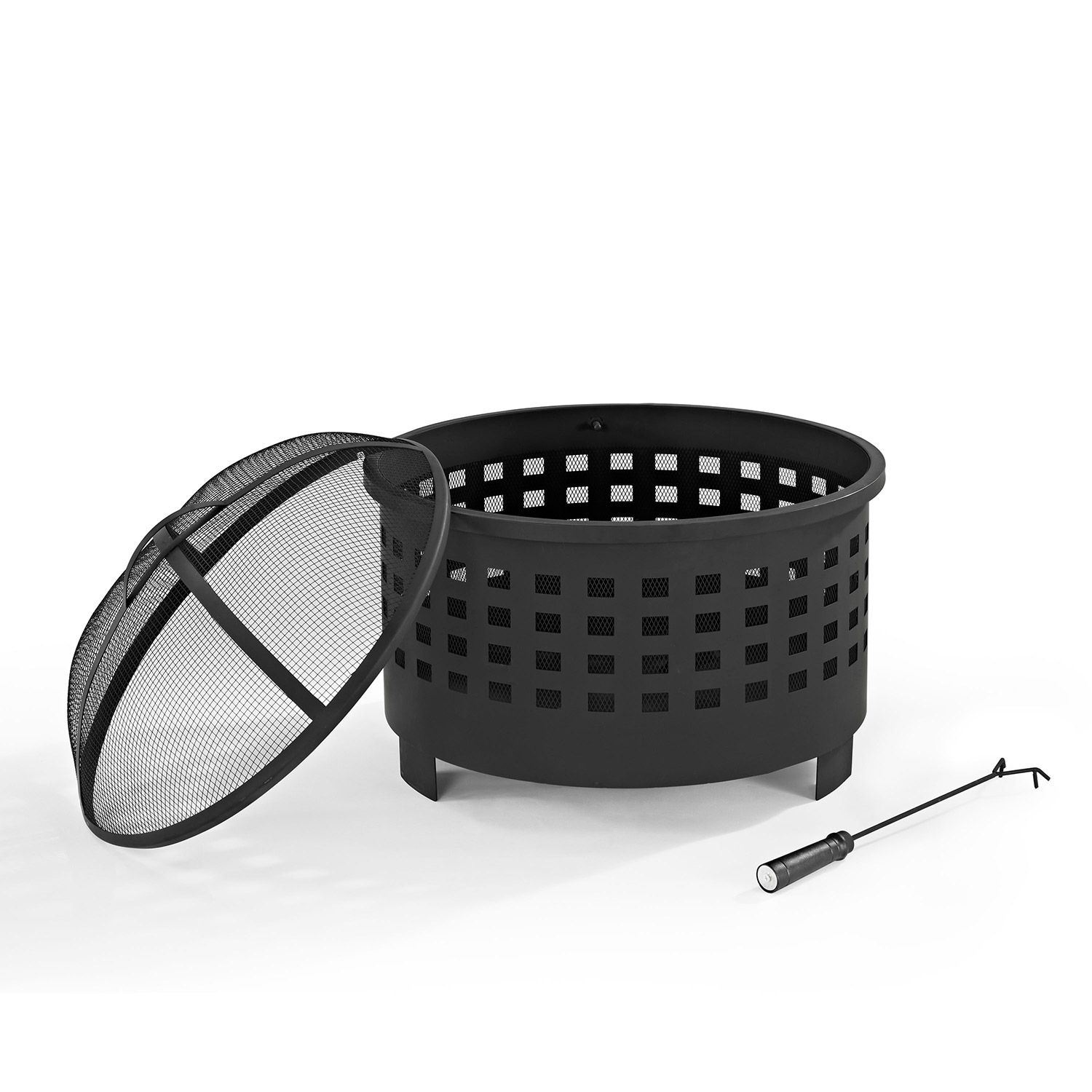 Picture of Hudson Basket Weave Fire Pit in Black *D
