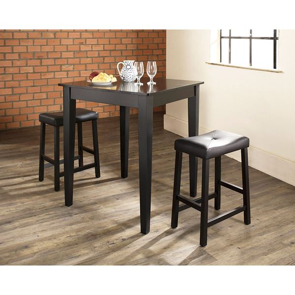 Picture of 3-Piece Pub Dining Set, Black *D