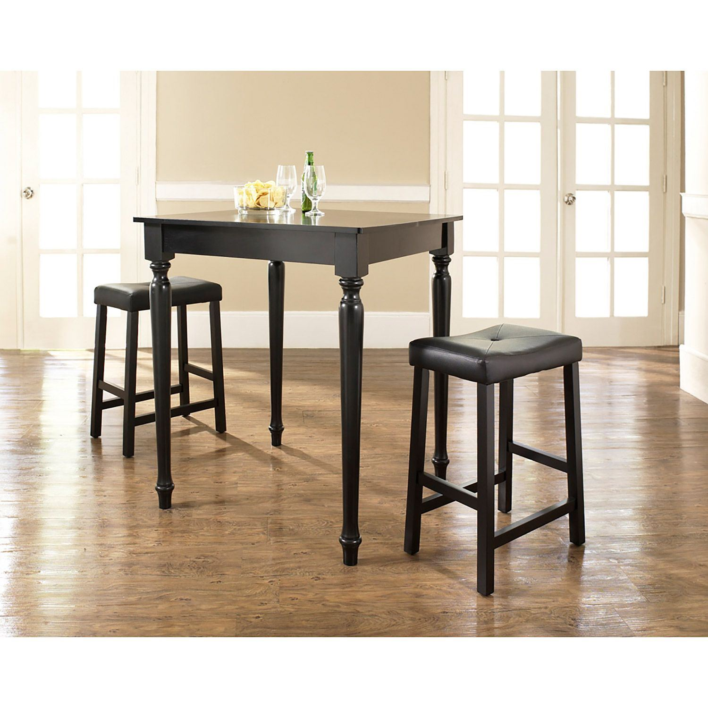 3 Piece Pub Dining Set Black D Kd320012bk Crosley Furniture Afw