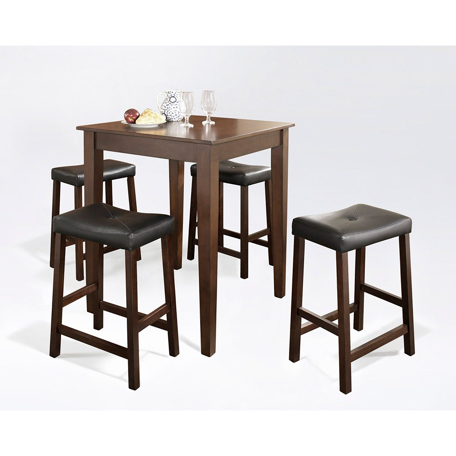 Picture of 5-Piece Pub Dining Set, Mahogany *D